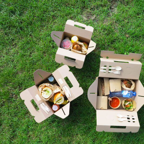Catering-Picknickboxen aus Pappe