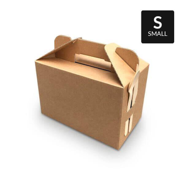 Kleine Picknickbox mit Handvat